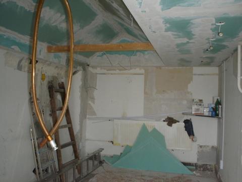 Iroda a felújításkor